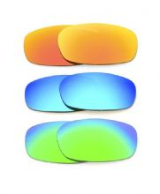 NEW POLARIZED CUSTOM FIRE/BLUE/GREEN LENS FOR OAKLEY SQUARE WIRE 2.0 SUNGLASSES